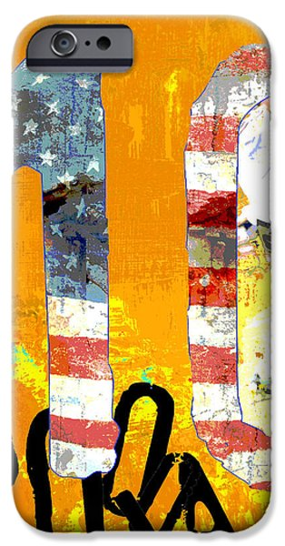 Red White And Blue Mixed Media iPhone Cases - Futbol Soccer Usa World Cup iPhone Case by ArtyZen Studios - ArtyZen Home