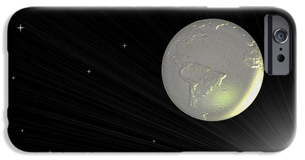 Abstract Digital Photographs iPhone Cases - Future Earth 2 iPhone Case by Cheryl Young