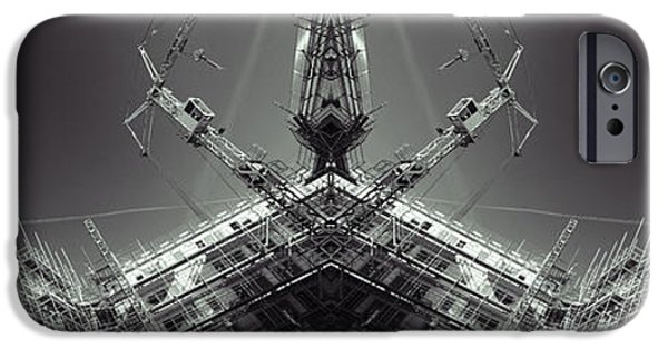 Strange iPhone Cases - Futuristic Construction And Industry iPhone Case by Christian Lagereek