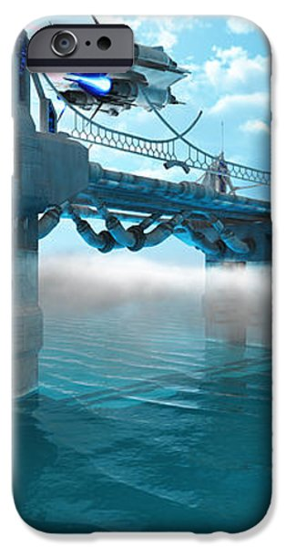 Futuristic Skyway iPhone Case by Corey Ford