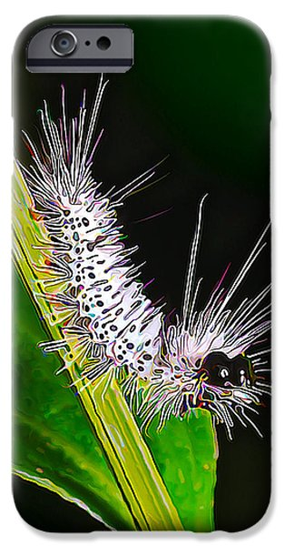 Fuzzy Digital iPhone Cases - Fuzzy Caterpillar iPhone Case by Bill Caldwell -        ABeautifulSky Photography