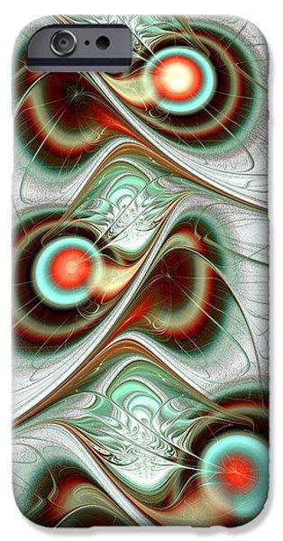 Turquoise iPhone Cases - Fuzzy Feelings iPhone Case by Anastasiya Malakhova