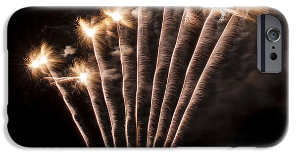 4th Of July iPhone Cases - Fuzzy Fireworks iPhone Case by Mandy Judson