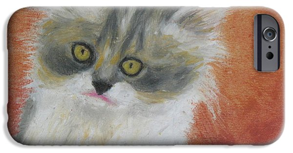 One iPhone Cases - Fuzzy Kitten iPhone Case by Jeanne Fischer