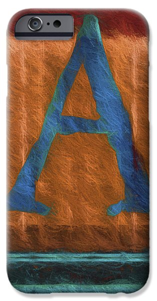 Fuzzy Digital iPhone Cases - Fuzzy Letter A iPhone Case by Carol Leigh