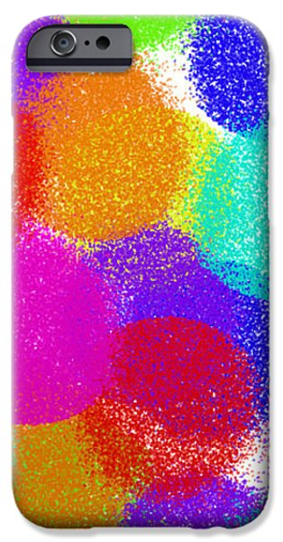 Fuzzy Polka Dots iPhone Case by Andee Design