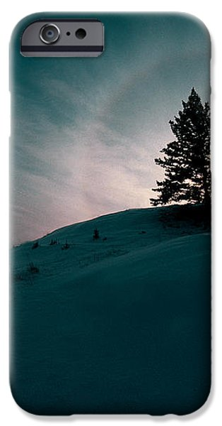Fv4157, Will Datene Pine Tree On A Hill iPhone Case by Will Datene