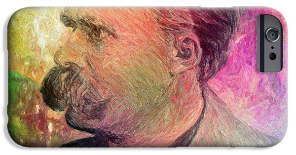 Will Power iPhone Cases - F.W. Nietzsche iPhone Case by Taylan Soyturk