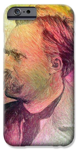 F.W. Nietzsche iPhone Case by Taylan Soyturk