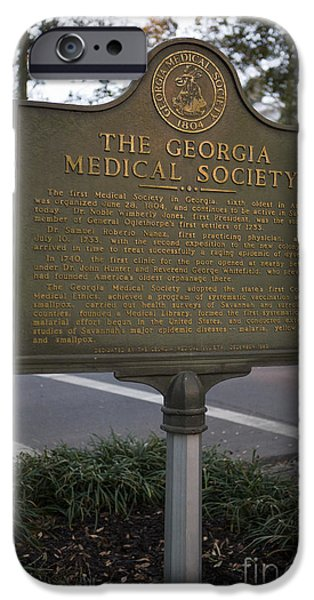 The Interests Of Society iPhone Cases - GA-25-004 The Georgia Medical Society iPhone Case by Jason O Watson