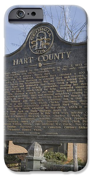 Historic Site iPhone Cases - GA-73-4 Hart County iPhone Case by Jason O Watson