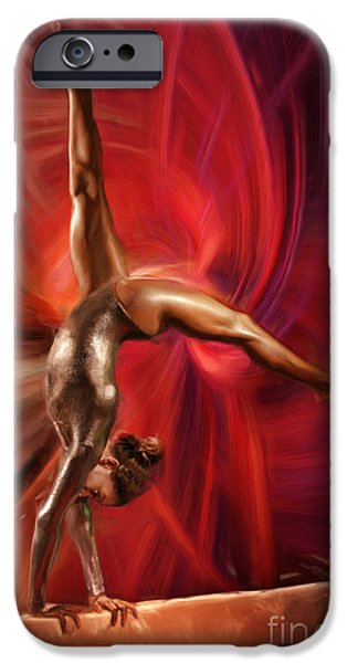 Gabby Douglas Gymnasts iPhone Case by Blake Richards