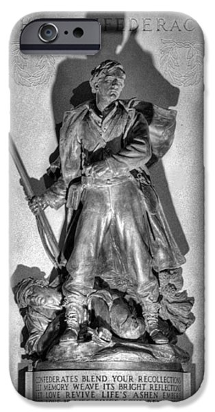Statue Of Confederate Soldier iPhone Cases - Gabriel James Boney  iPhone Case by JC Findley
