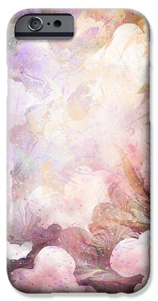 Seraphim Angel Digital Art iPhone Cases - Gabriel iPhone Case by Rachel Christine Nowicki