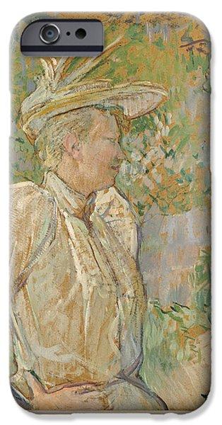 Model iPhone Cases - Gabrielle The Dancer, 1890 Oil On Canvas iPhone Case by Henri de Toulouse-Lautrec