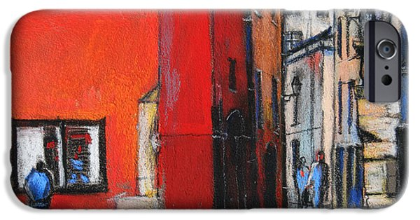Facade Pastels iPhone Cases - Gadagne Museum Facade in Lyon France iPhone Case by Mona Edulesco