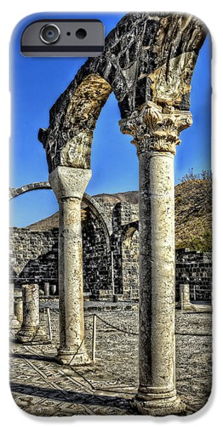 Miracle iPhone Cases - Gadara Pillars iPhone Case by Ken Smith
