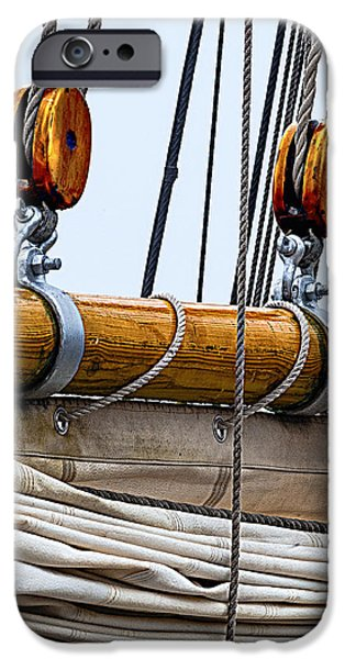Schooner iPhone Cases - Gaff and Mainsail iPhone Case by Marty Saccone