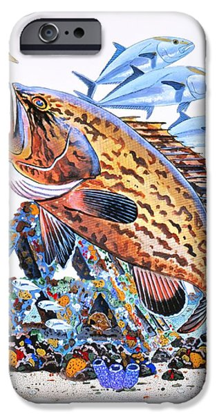 Goliath iPhone Cases - Gag Grouper iPhone Case by Carey Chen