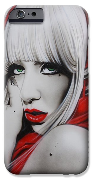 Ga iPhone Cases - GaGa iPhone Case by Christian Chapman Art