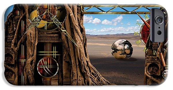 The Clock iPhone Cases - Gagilus time dream iPhone Case by Franziskus Pfleghart