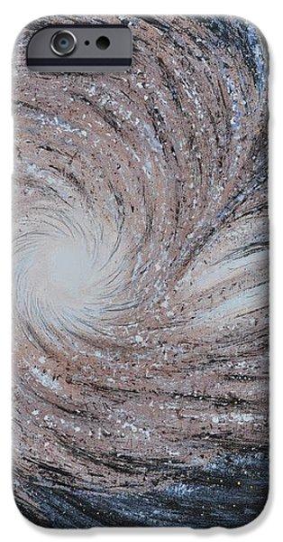 Galactic Amazing Dance iPhone Case by Georgeta  Blanaru