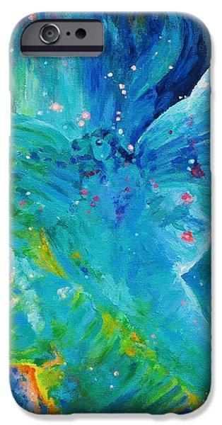 Galactic Angel iPhone Case by Julie Turner