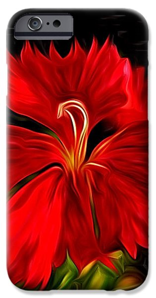 Galactic Dianthus iPhone Case by David Kehrli