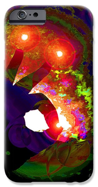 Gaia Digital iPhone Cases - Galactic Intervention iPhone Case by Susanne Still