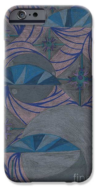 Kim Drawings iPhone Cases - Galactic iPhone Case by Kim Sy Ok