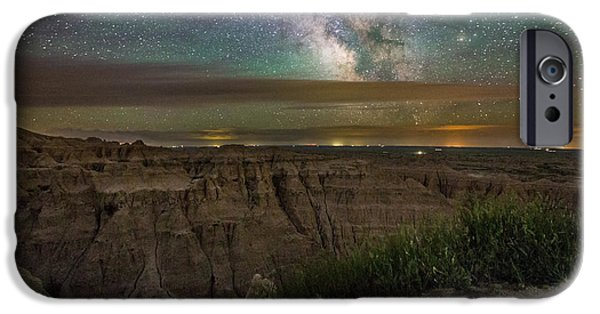 Badlands iPhone Cases - Galactic Pinnacles iPhone Case by Aaron J Groen