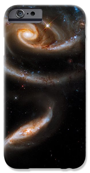 Constellations iPhone Cases - Galactic Rose iPhone Case by Adam Romanowicz