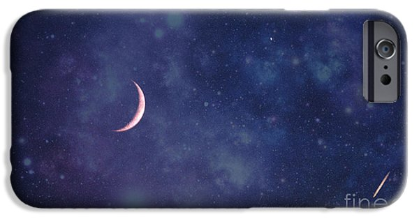 Jet Star iPhone Cases - Galactic show iPhone Case by Rima Biswas
