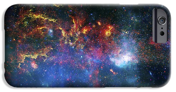 Psychedelic Photographs iPhone Cases - Galactic Storm iPhone Case by The  Vault - Jennifer Rondinelli Reilly
