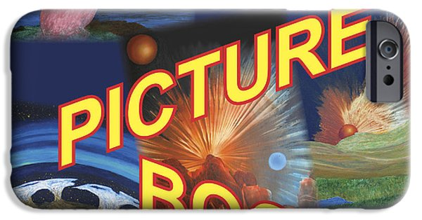 Exoplanet Paintings iPhone Cases - Galaxies Picture Book iPhone Case by Lonnie Pelletier