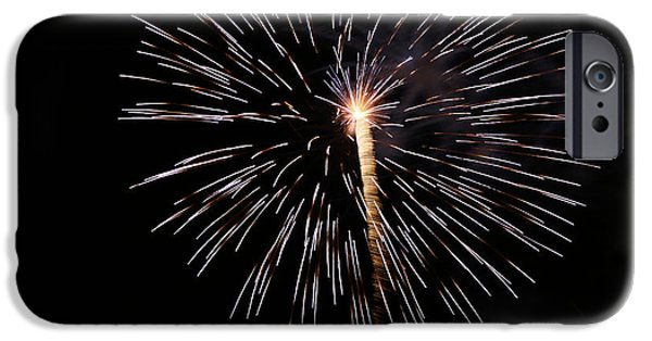 Fireworks iPhone Cases - Galaxy iPhone Case by Jack R Perry