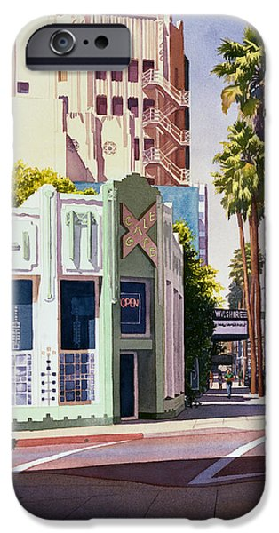 Buildings iPhone Cases - Gale Cafe on Wilshire Blvd Los Angeles iPhone Case by Mary Helmreich