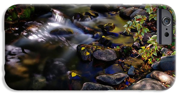 Mount Rose iPhone Cases - Galena Creek Fall Waterfall iPhone Case by Scott McGuire