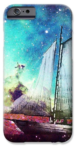 Galileo's Dream - Schooner Art By Sharon Cummings iPhone Case by Sharon Cummings