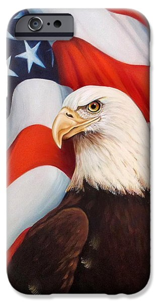 4th July Paintings iPhone Cases - Gallantly Streaming-2 iPhone Case by ArtLoft - Southern California