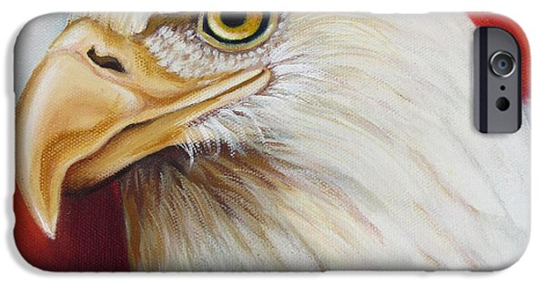 4th July Paintings iPhone Cases - Gallantly Streaming-5 iPhone Case by Jean R Brown - J Brown