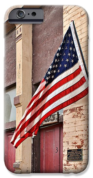 Old Glory iPhone Cases - Gallantly Streaming iPhone Case by Nikolyn McDonald