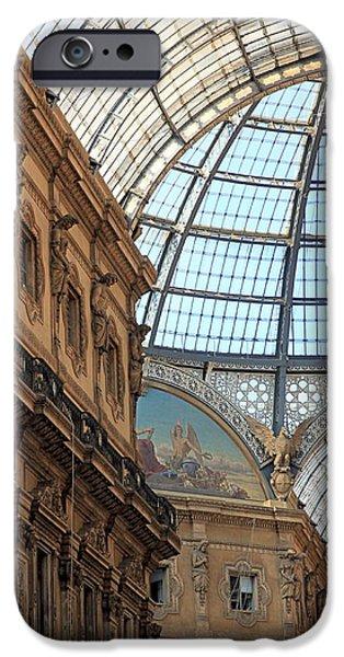 Glass Wall iPhone Cases - Galleria Vittorio Emanuele iPhone Case by Valentino Visentini