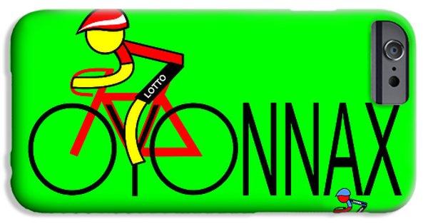 Asbjorn Lonvig Digital iPhone Cases - Gallopin won Stage 11 in Oyonnax iPhone Case by Asbjorn Lonvig