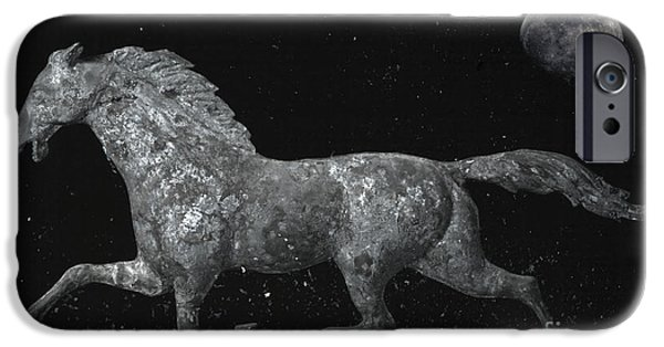 Weathervane Photographs iPhone Cases - Galloping Through The Universe iPhone Case by John Stephens