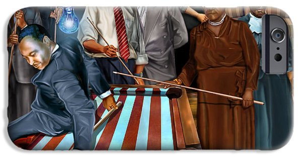 Obama iPhone Cases - Game Changers and Table Runners P2 iPhone Case by Reggie Duffie
