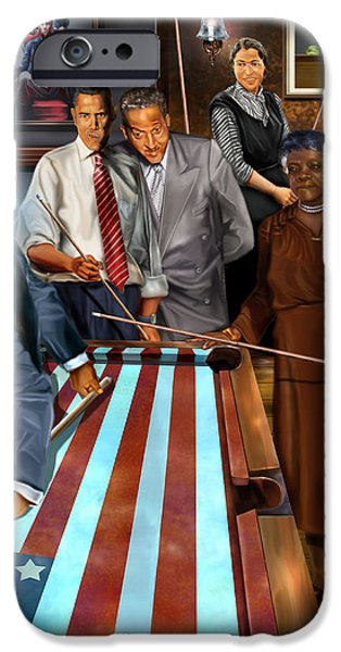 Game Changers and Table Runners P2 iPhone Case by Reggie Duffie