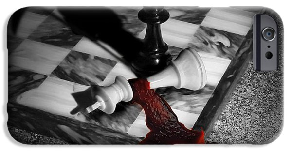 Gore iPhone Cases - Game - Chess - Check Mate iPhone Case by Mike Savad