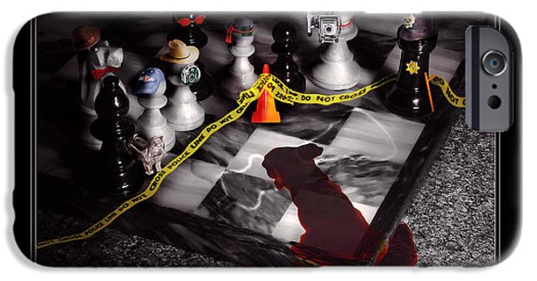 Police iPhone Cases - Game - Chess - Its only a Game iPhone Case by Mike Savad