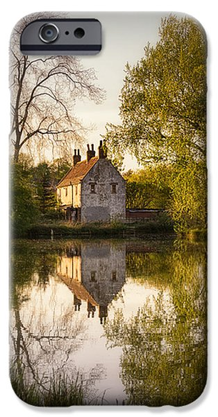 Reflection In Water iPhone Cases - Game Keepers Cottage Cusworth iPhone Case by Ian Barber